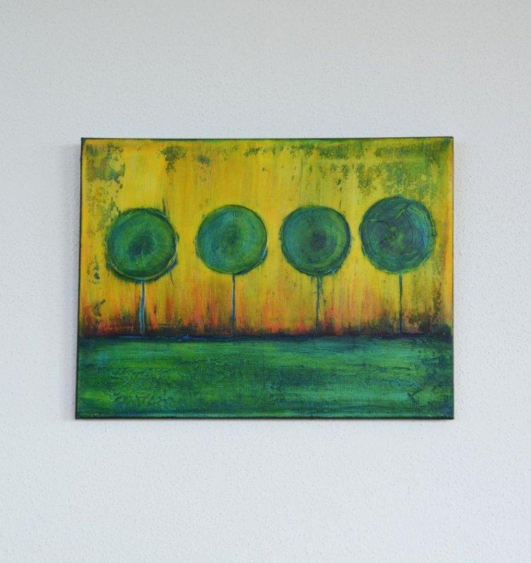 Acrylmalerei, Acrylmischtechnik auf Keilrahmen, Unikat